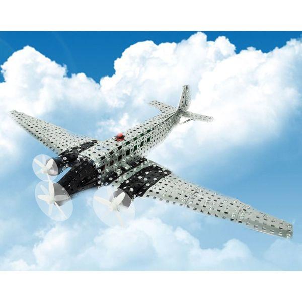 Метален конструктор с батерии - Самолет